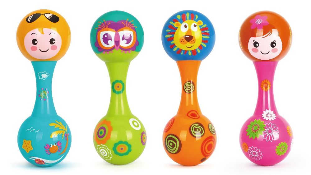 100% Original Huile Toys 3102A Cartoon Plastic Sand Hammer Baby Rattle Toy Orff Musical Instruments Preschool Educational Toys(China (Mainland))