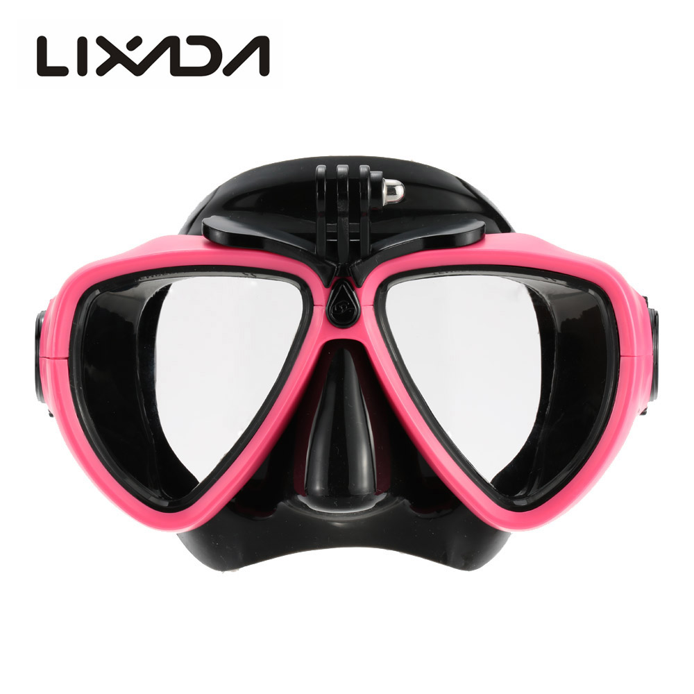 Professional Silicone Gear Scuba Diving Mask Equipment Snorkel with Camera Mount Anti-Fog Waterproof Swim/Dive Glasses Men Women(China (Mainland))