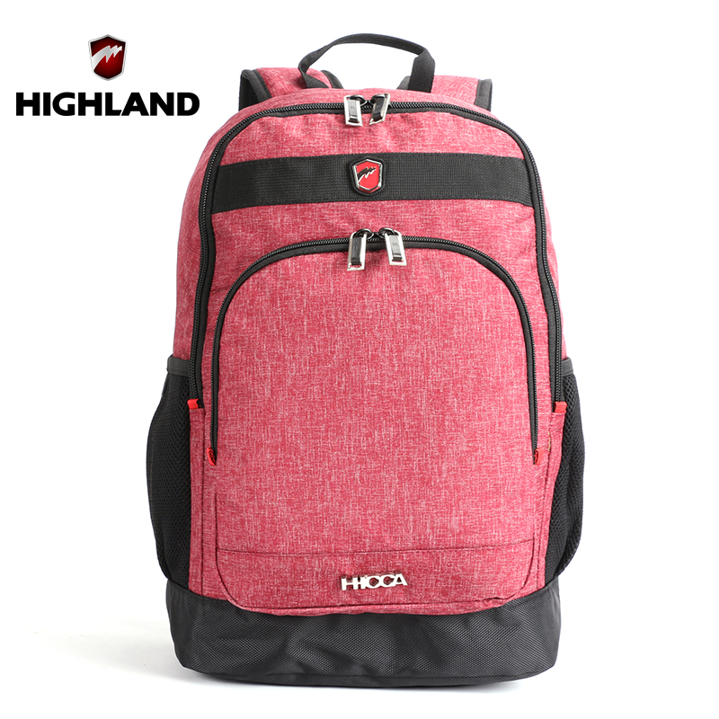 HIGHLAND Backpacks For Teenage Girls 15.6 inch Laptop Backpack Women Notebook Portfolio School For Teenagers Men's Backpack Bag(China (Mainland))