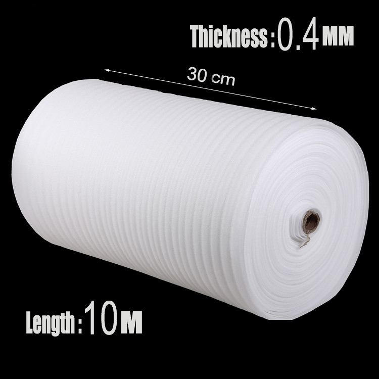0.3*10m 1Pcs 0.4mm White Espuma EPE Foam Roll Shipping Protection Wrap Bumper Pre-cut Air Cushion Roll Dunnage Packing Material(China (Mainland))