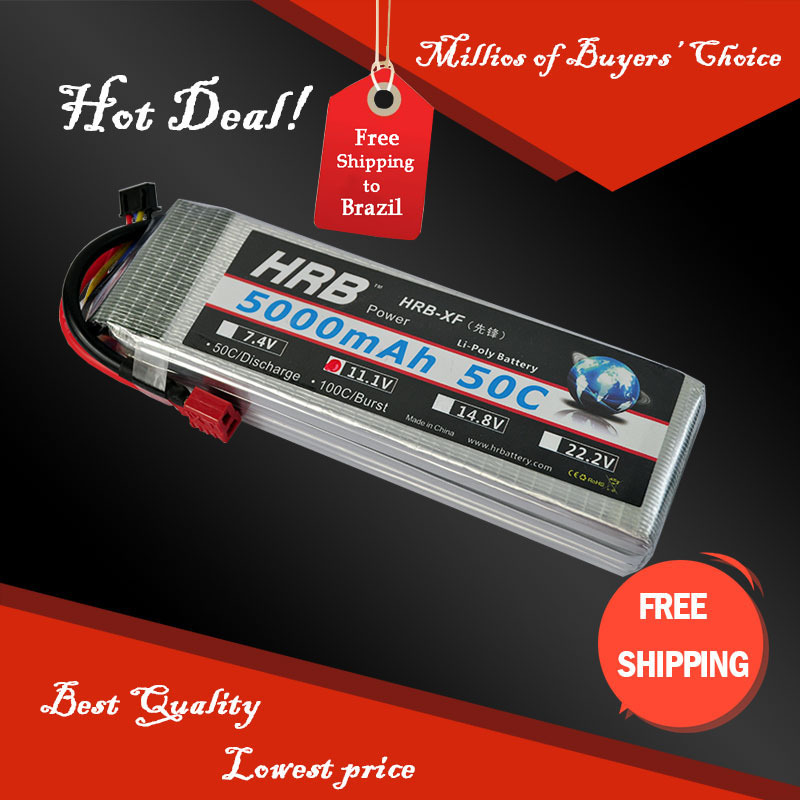 Free Shipping HRB Wholesale Price 11.1V 5000mah 50C Max 60C Toys & Hobbies For Helicopters RC Models Li-polymer Battery(China (Mainland))