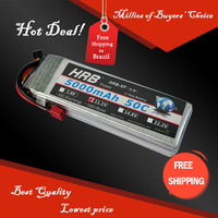 Free Shipping HRB Wholesale Price 11.1V 5000mah 50C Max 60C Toys & Hobbies For Helicopters RC Models Li-polymer Battery