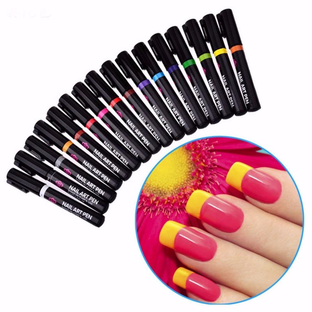 Hot Fashion Nail Art Pen Painting Design Tool Drawing for UV Gel ...