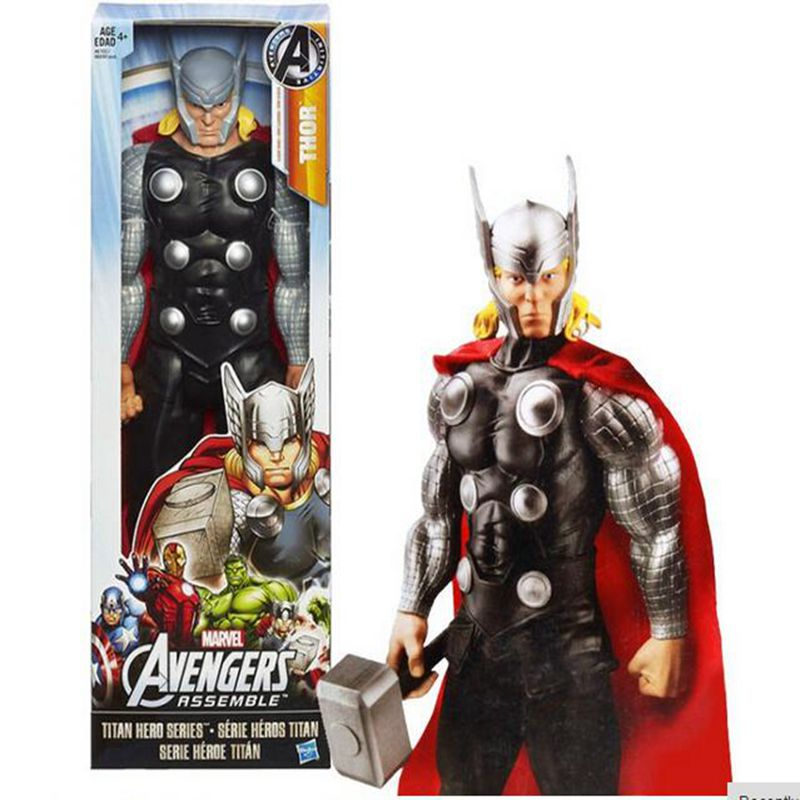 "Original box - Marvel Avengers Thor PVC Action Figure Brinquedos Collectible Model Toy Super Hero kids toys 12""30CM(China (Mainland))"