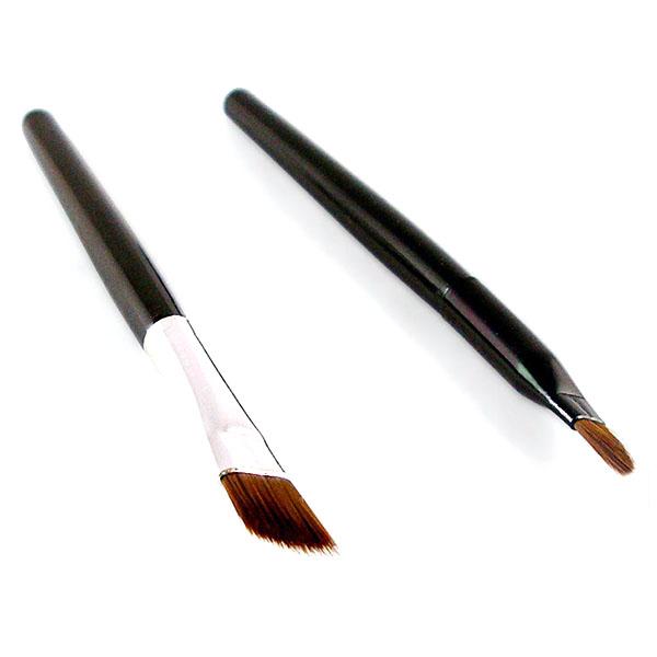 Brown Black Colors Eyeliner Gel+2Pcs Brushes Makeup Cosmetic Sets