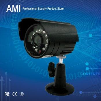 Free Shipment CCTV Outdoor CCTV Camera Weatherproof Day Night Vision Surveillance 600TVL with bracket black colour