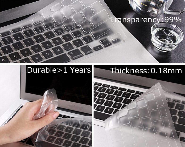 TPU Keyboard Cover Skin Protector for Toshiba Satellite R800 C850 L650D X505 L755 L750D NB255 C50-A(China (Mainland))