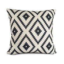 White and black Geometry Polyester Throw Pillow Cover Cushion Case Pillow