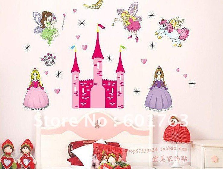 castle wall sticker Picture - More Detailed Picture about Princess ...