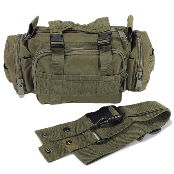 TOYL Waist bags man bags Pack Pouch Military Tactical Waist Pack Canvas Camera Camping - Green(China (Mainland))