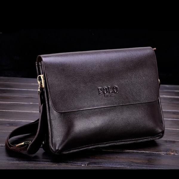 HOT SOLD High Quality men messenger bag ,fashion pu leather male shoulder bag ,casual briefcase brand name bags(China (Mainland))