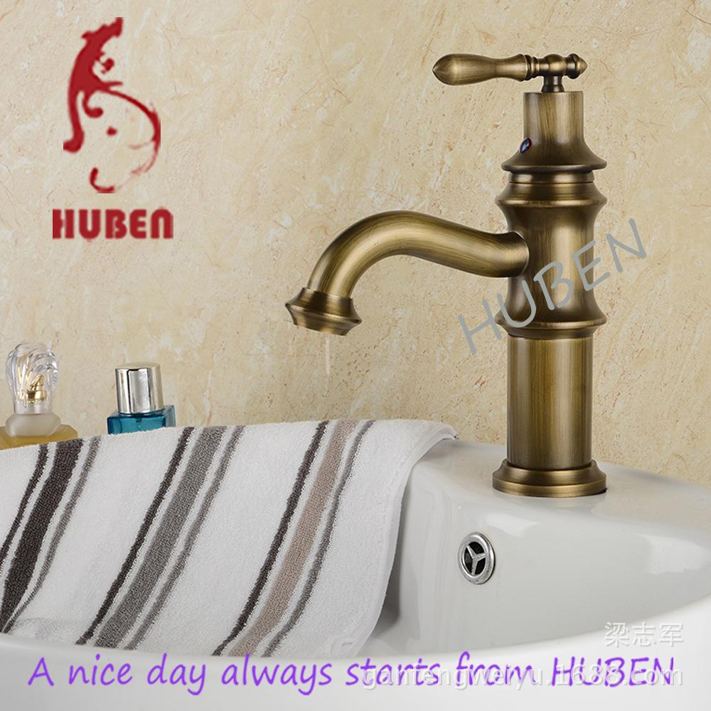 Tiger Ben antique copper faucet whole European pastoral retro hot and cold taps basin faucet washbasin single hole faucet<br><br>Aliexpress