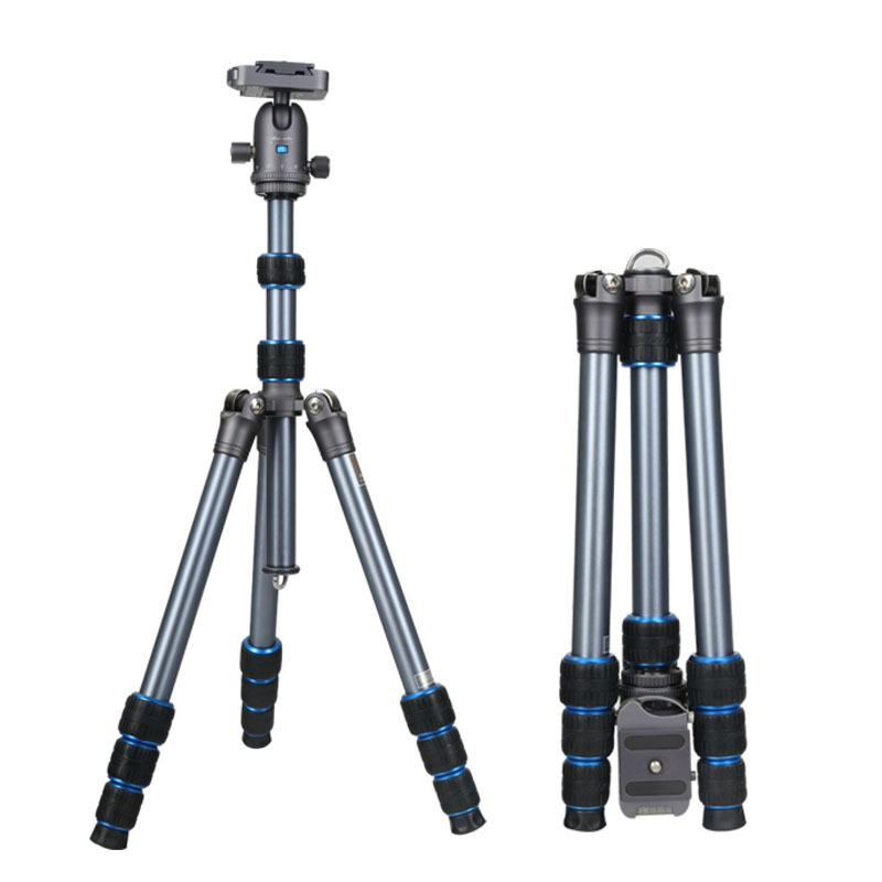 New Arrival NT-6234AK Portable Reflexed Professional Aluminum Photography Tripod For DSLR SLR Camera Ball Head with Tripod Bag(China (Mainland))