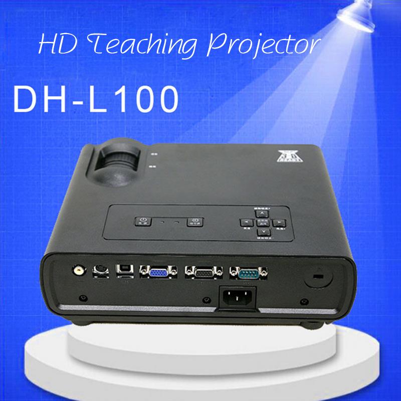 DH-L100 Domestic Highlight Teaching Business Projetor 3000Lumens Karaoke Video Proyector TV Home Cinema Full HD DLP Beamer(China (Mainland))
