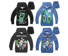 4-12T Boy's Hoodies Minecraft Sweatshirts, Minecraft Winter Sweatshirt, Kid's Long Sleeved camiseta Children's Boys Clothes #EB(China (Mainland))