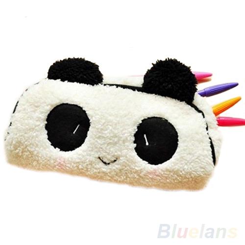 Panda Soft Plush Pencil Case Pen Pocket Cosmetic Makeup Zipper Bag Pouch Gift 02Q3(China (Mainland))
