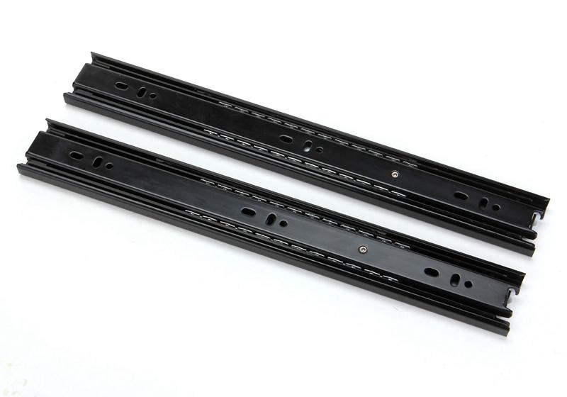 Furniture drawer track three track rail slide chute slide wardrobe mute child Hardware 1222