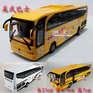 Free shipping Plain american bus school bus alloy WARRIOR toy car model