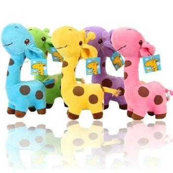 1 PC Unisex Cute Gift Plush Giraffe Soft Toy Animal Dear Doll Baby Kid Child Girls Christmas Birthday Happy Colorful Gifts