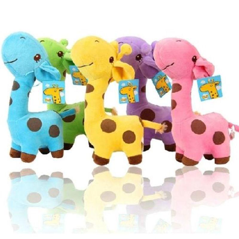 1 PC Unisex Cute Gift Plush Giraffe Soft Toy Animal Dear Doll Baby Kid Child Girls Christmas Birthday Happy Colorful Gifts(China (Mainland))