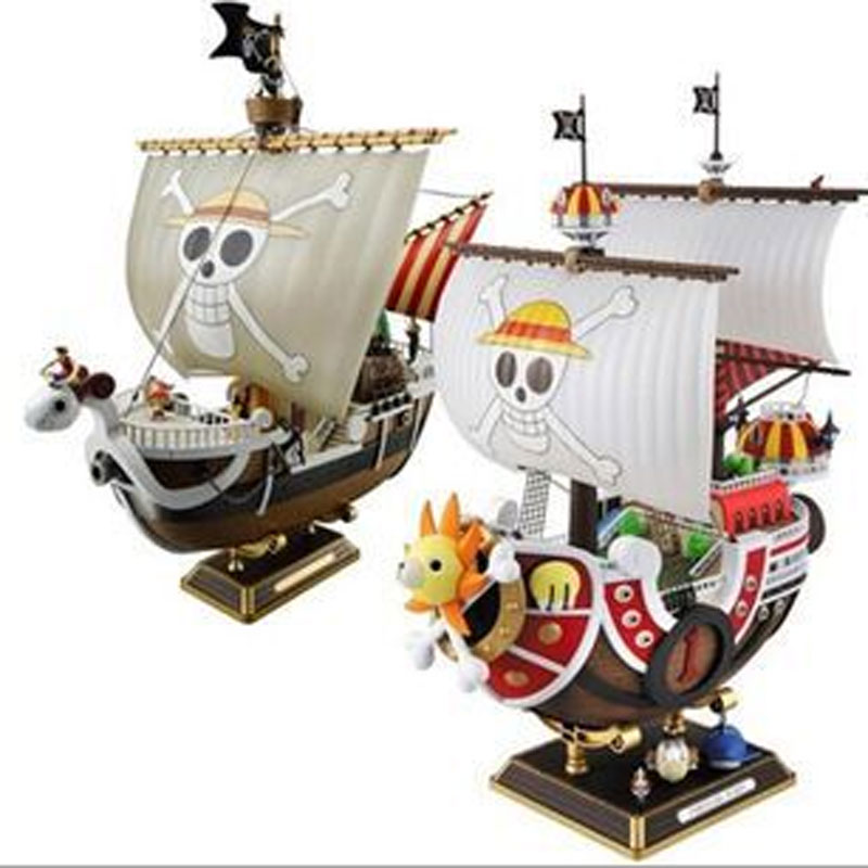 Anime Comic ONE PIECE Ship Going Merry Thousand Sunny Two years later assemble action figure(China (Mainland))