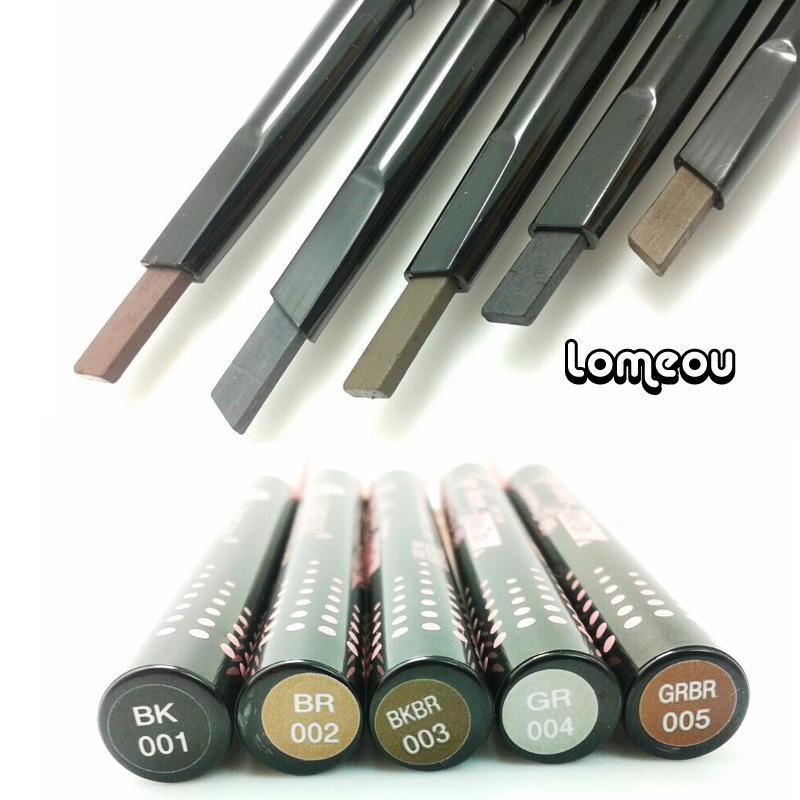 Loumeou / Romeo quadrado rotação automática não se desvanece durável lápis de sobrancelha impermeável atacado Maquillage maquiagem
