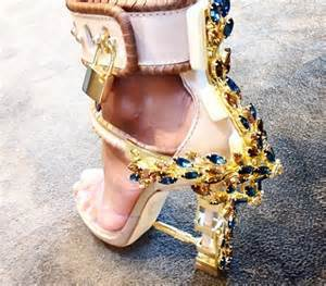 Luxury Jewel Embellished High Heel Sandal Ankle Strappy Locked Up