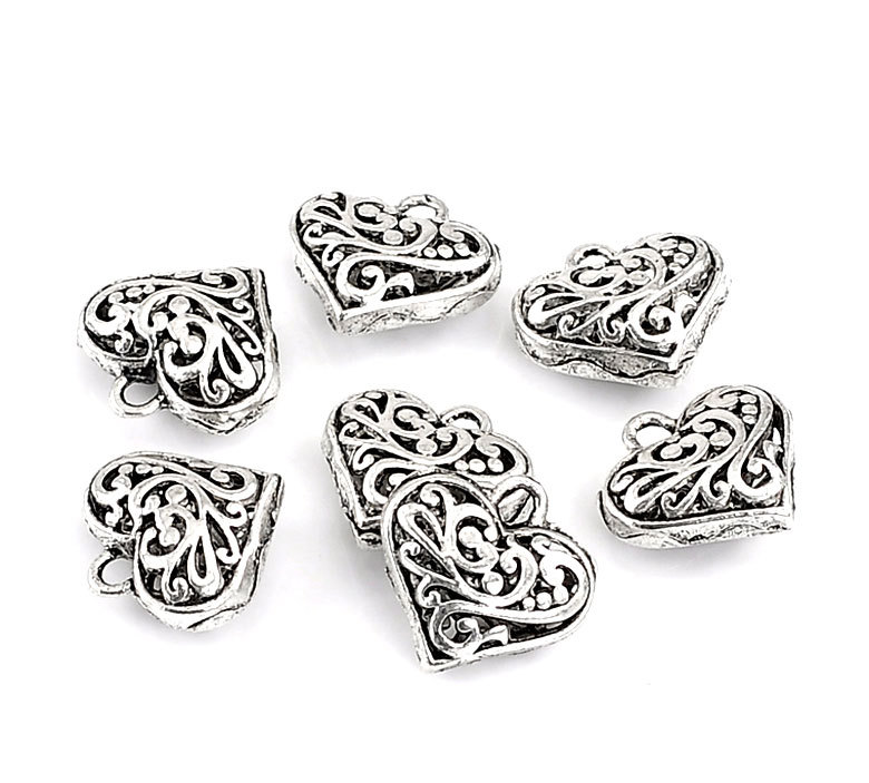 250Pcs Free Shipping Silver Tone Hollow Love Heart Valentine Pendants Jewelry Findings Charms Wholesales 20x20mm<br><br>Aliexpress