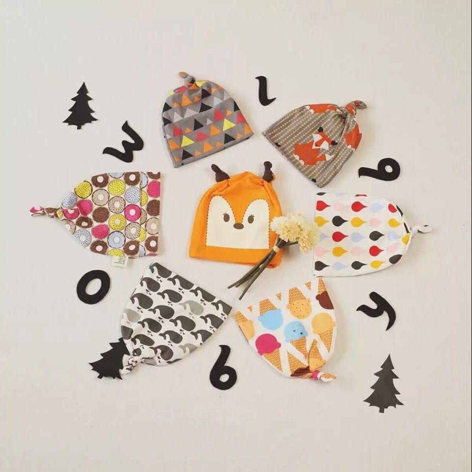 Hu Sunshine wholesale new 2015 autumn baby girls boys fashion printed cotton caps