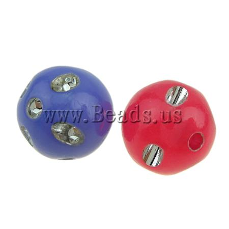 Free shipping!!!ABS Plastic Beads,2013, Round, silver accent, mixed colors, 12mm, Hole:Approx 2mm, 600PCs/Bag, Sold By Bag(China (Mainland))