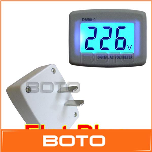 Line Powered Digital Voltmeter : Lcd digital voltmeter ac v power voltage monitor