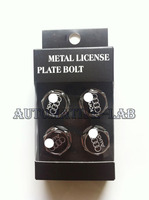 free shipping 4 Pieces car logo Metal License Plate Frame Bolts Screws for Audi