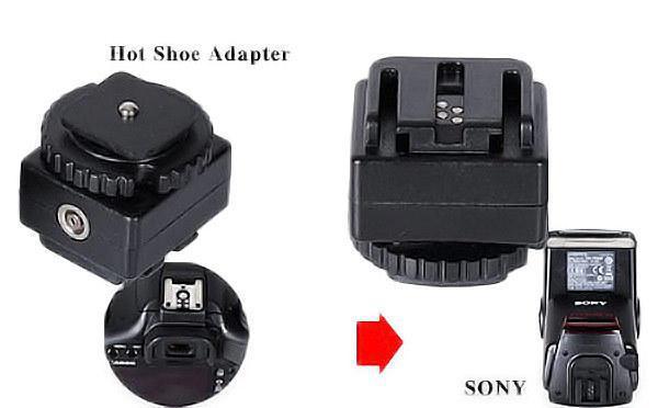 Flash Hot Shoe Adapter for Canon Nikon Camera to Sony Flash PC Socket C-S1(China (Mainland))