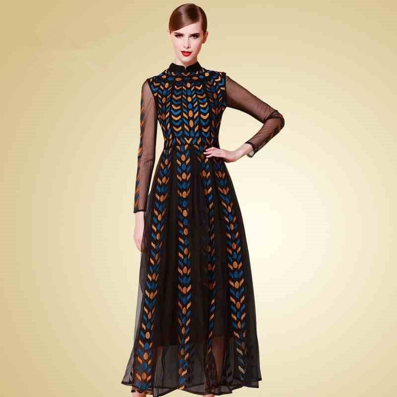 long sleeve designer maxi dress – dress fric ideas
