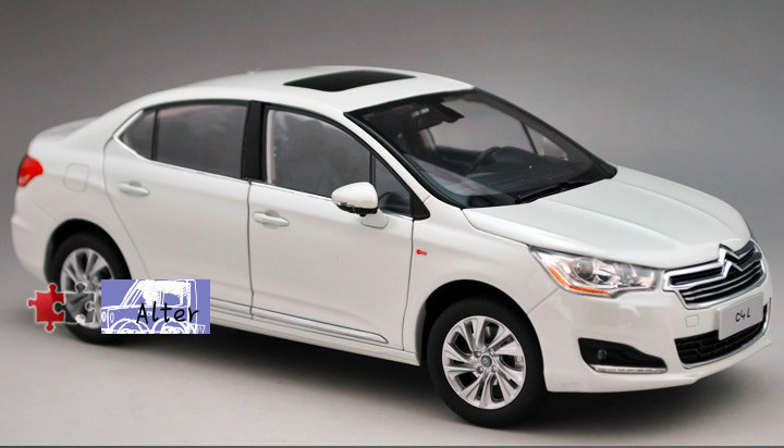 1:18 New Die cast Model Car Toy For 2012 citroen C4L Alloy Scale Model Toys Gift Car Styling Display Collection(China (Mainland))