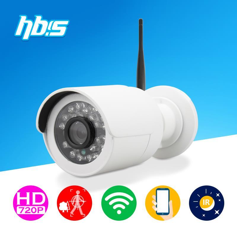 HBSS 1MP 1280*720P Wifi ip camera wifi 802.11 b/g/n IP 66 Waterproof night vision Onvif Surveillance Camera(China (Mainland))