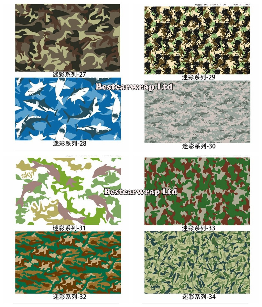 Camo vinyl wrap black, white green purple camouflage wraps (3)