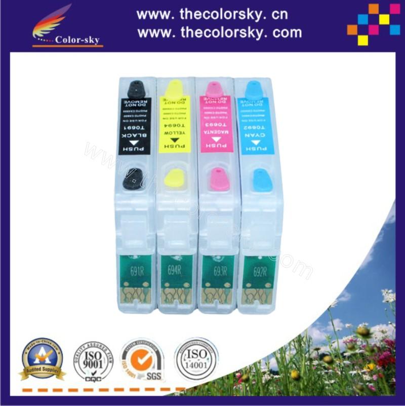 (RCE691-694) refillable refill ink cartridge for Epson 69 T0691 T0692 T0693 T0694 BK C M Y CX7000F/CX7400/CX8400/CX9400FAX