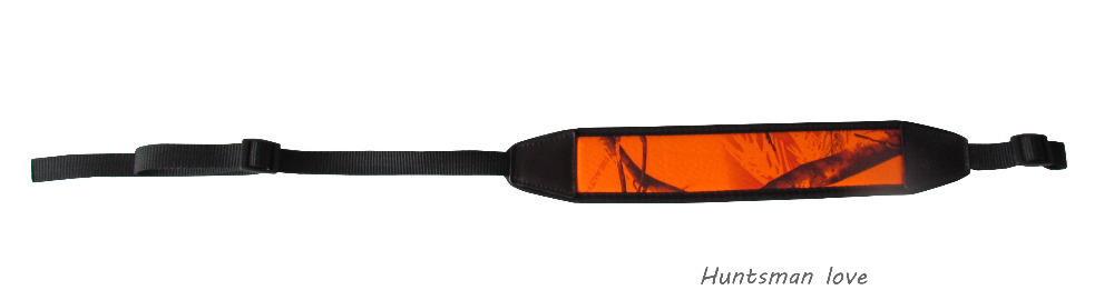 New Arrival Hunting Gun Accessories Adjustable Camo Rifle Gun Sling Strap Length Black and Orange Hunting