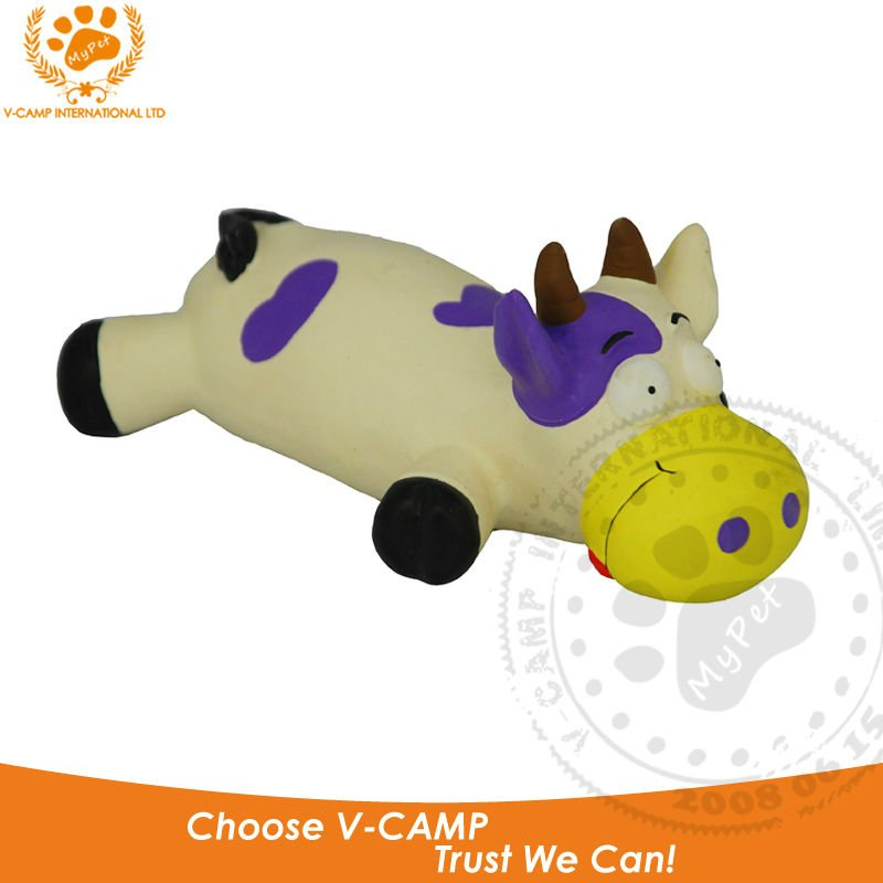 My pet 1pcs 100% latex rubber cow high quality novelty healthy exercise toy for dog funny pet squeak toys baby gift VP-PT1088(China (Mainland))