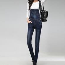 Rompers Women Jumpsuit 2016 New Fashion Removable Overalls Jeans Female Playsuit Pencil Trousers Plus Size 3xl Cotton Pants B307
