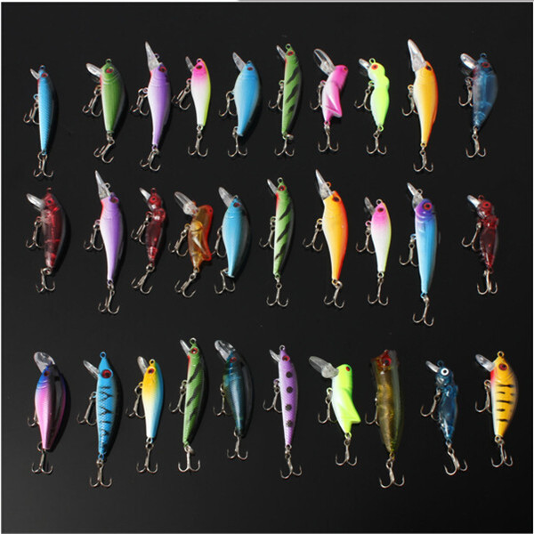 NEW Hot sale 30pcs/set Fishing Lure Set Jig Head Fishing Soft Lures Spinners With Hooks Tackle Bright Colors To Attract Big Fish(China (Mainland))