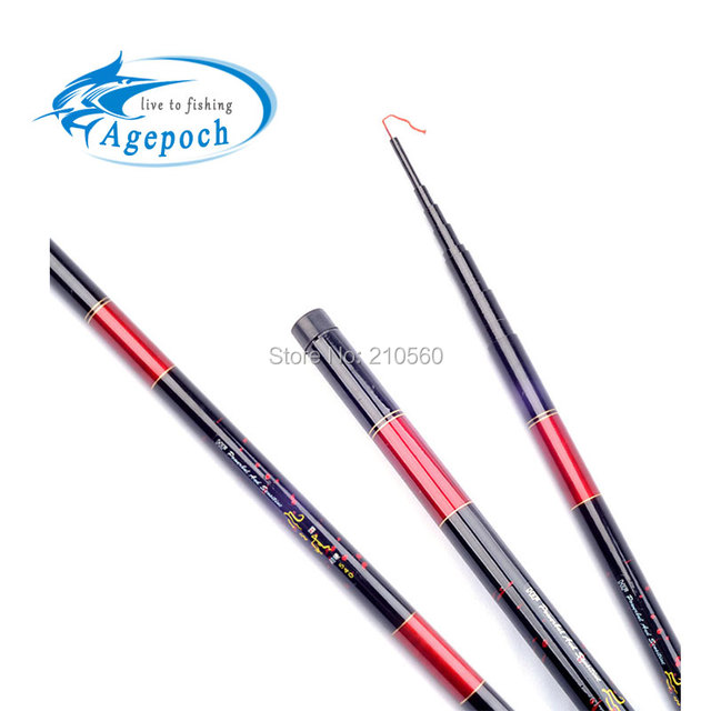 Agepoch 3.6/4.5/5.4M Fiberglass Fishing Rod Spinning Tackle Winter Feeder Peche Telescopic Carp Pole Gear Stick Fisherman Spin