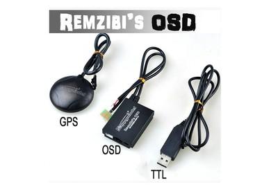 FPV Remzibi Poor Mans OSD + GPS, APM/MWC/ARKBIRD/Rabbit/Pirate TTL Cable Module<br><br>Aliexpress