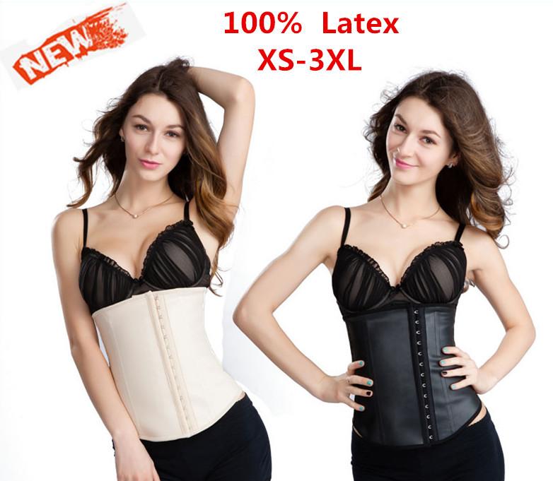 plus size waist training corsets Latex Corset waist trainer Waist Cincher Sexy Corsets and Bustiers dress gaine amincissante XS(China (Mainland))