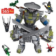 Они Titan Warrior роботы 565 шт. строительные блоки Meche ninjagoo серии технический кирпич модели наборы Фигурки игрушки для детей подарок(China)
