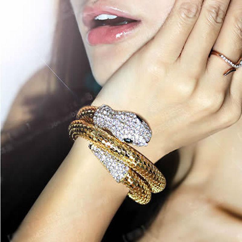 NEW Fashion brand women's bracelet,Popular element animal bracelets, metal snake, high quality rhinestone adornment XR018(China (Mainland))