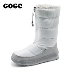 Gogc rusa famosa marca blanca de las mujeres zapatos de invierno de alta calidad mujeres botas de invierno botas de nieve botas de las mujeres cómodas zapatos(China (Mainland))