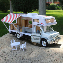 new arrival free shipping die cast 1:32 Toys for children  Alloy  Cars Model Wholesale-recreational vehicle with sound and light(China (Mainland))