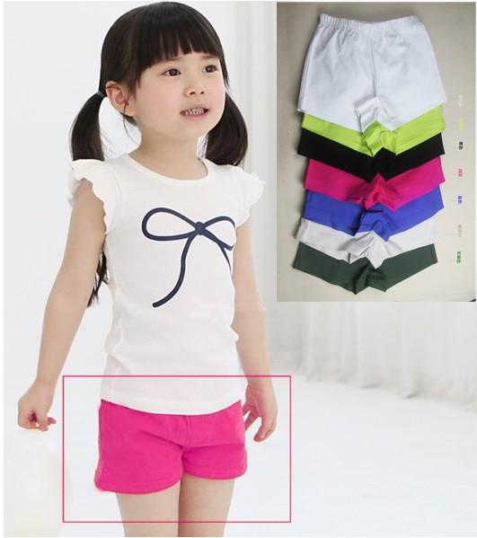 2015 fashion designed,original brand Girls plain skirts,candy color 100% cotton beach shorts,high quality children shorts #385(China (Mainland))
